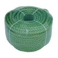 Веревка полиэстер 8мм х 30м универсальная зелёная