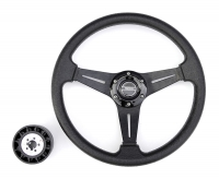 Рулевое колесо Pretech HD-5125D 35 см, хром, чёрное