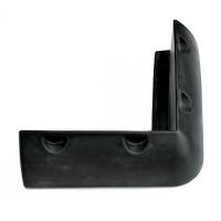 Кранец причальный угловой 25х25 см чёрный резина