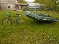 """Прицепное устройство """"Вело"""" для надувных лодок"""