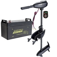 Лодочный электромотор Fisher 36 аккумулятор Gel 100Ah