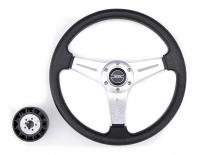 Рулевое колесо Pretech 35 см, спицы серебро (HD-5125D silver)