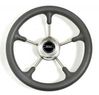 Рулевое колесо Pretech 32 см, серое, нержавейка (Pretech GS)