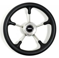 Рулевое колесо Pretech 32 см, чёрное, нержавейка (Pretech BS)